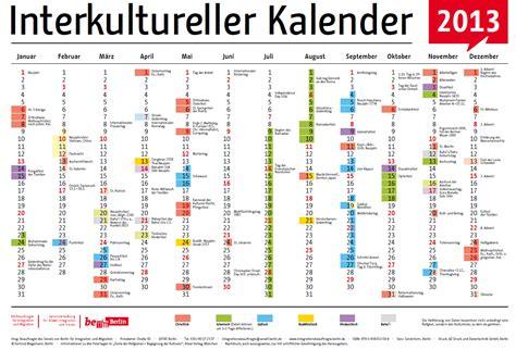 der interkulturelle kalender ist da