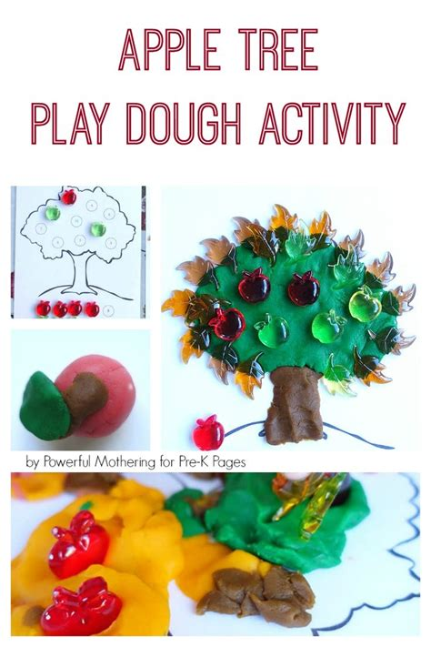 apple tree play dough activity play dough apple tree 315 | 48574cef9d9f7be7e24109aa73840b16 apple activities preschool activities