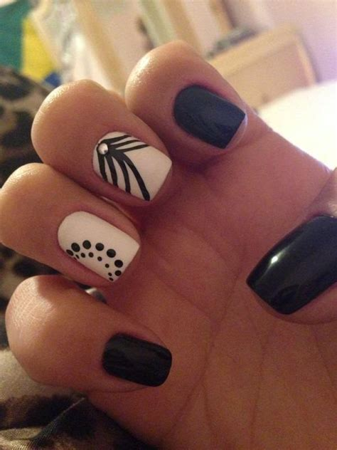 and white nail designs 50 black and white nail designs
