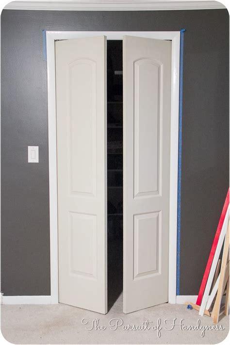 Trimming Closet Doors by Trim Bifold Doors Tutorial Home Decor Closet