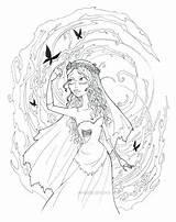 Bride Coloring Pages Corpse Lineart Kata Elf Getcolorings Getdrawings Printable Deviantart sketch template