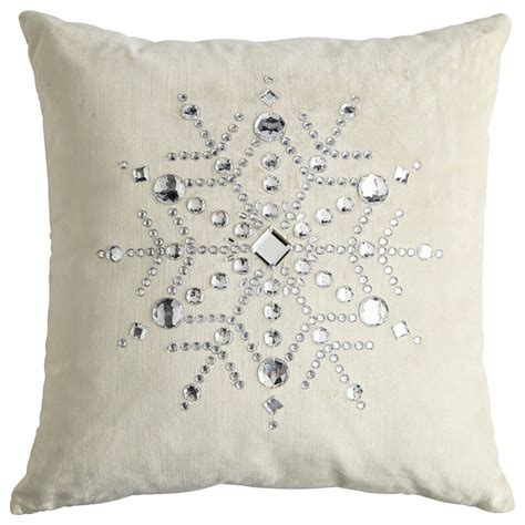 Pier One Canada Decorative Pillows by Velvet Snowflake Pillow Contemporary Decorative