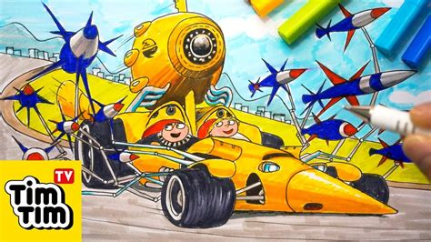How To Draw Minions Dru's Transforming Car From Despicable