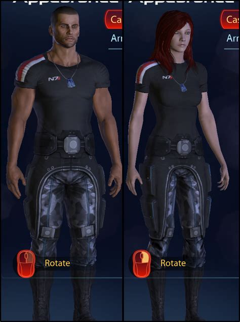 modded casual outfit  shirt  mass effect  nexus mods  community