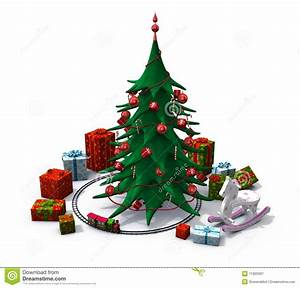 Christmas Tree With Toys Clipart