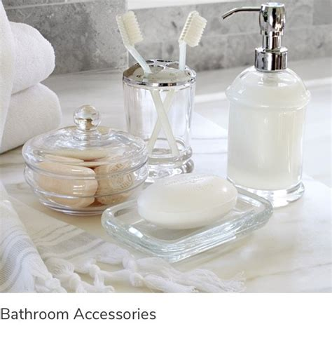 shop bathroom decor accessories  pottery barn uae