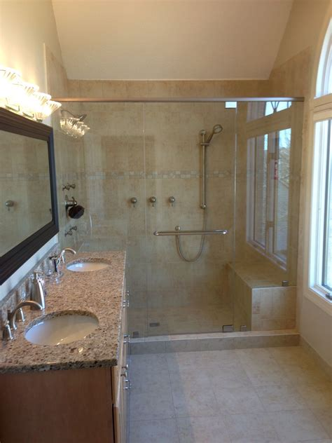 updated bathroom ideas updated master bath shower with seat easy tops