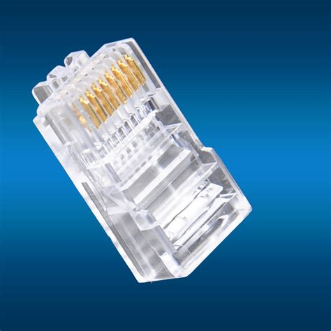 pcs rj modular utp plug network connector cat cate cat solid cable heads ebay