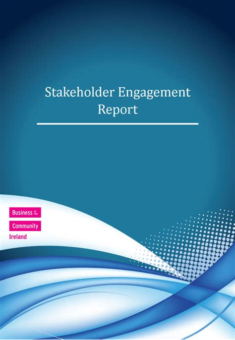 stakeholder engagement report business   community