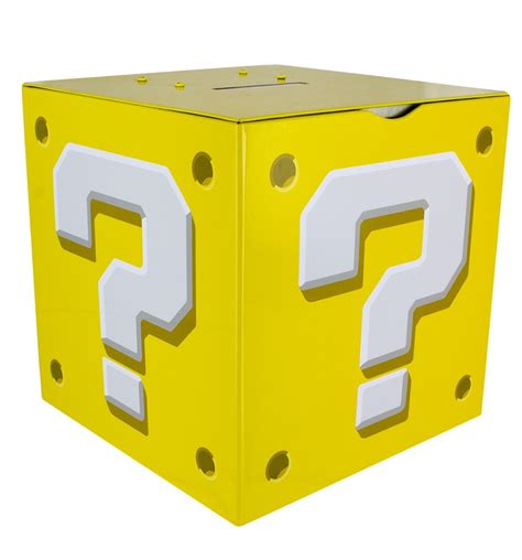nintendo super mario brothers question block moneybox with