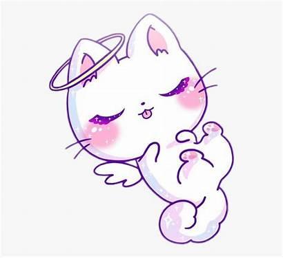Kawaii Cat Pink Angel Purple Anime Clipart