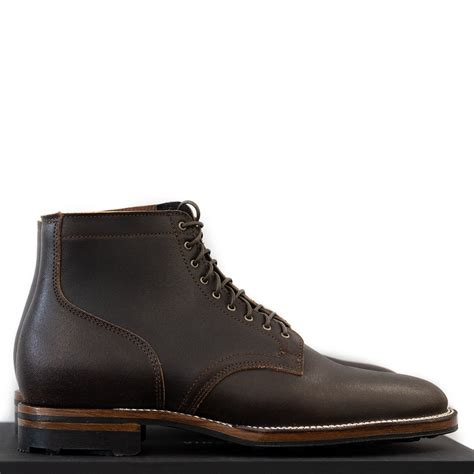 Viberg Waxed Flesh Service Boot - Dark Brown | Garmentory