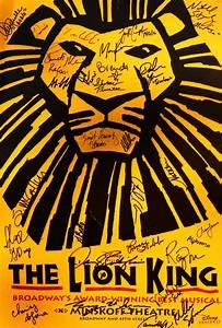 Disney The Lion King Cast Autographed Broadway Poster ...