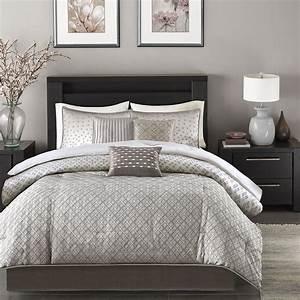 Beautiful, Modern, Contemporary, Design, Chic, Silver, Grey, Comforter, Set, U0026, Pillows