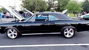 1967 Shiny Black Chevrolet Chevelle Ss 427 Engine
