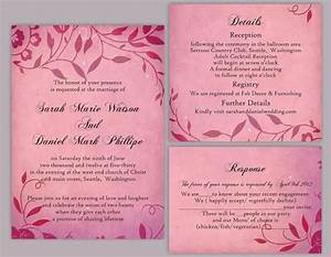 diy rustic wedding invitation template set editable word With indian wedding invitation website templates free download