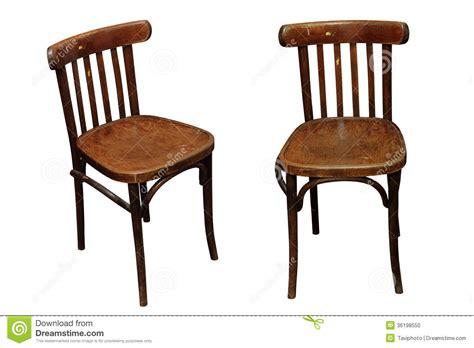 dessus de chaises vieilles chaises d 39 isolement photo stock image 36198550
