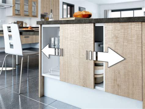 meuble de cuisine avec porte coulissante idées de