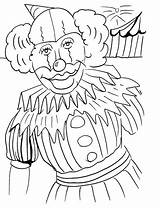 Clown Coloring Pages Printable Face Happy Sad Popular Template sketch template