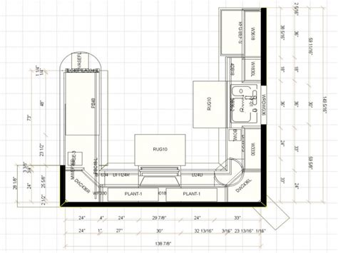 kitchen island with built in table u shaped kitchen floor plans