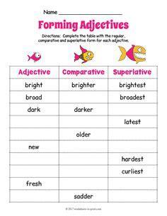 adjective worksheets images worksheets