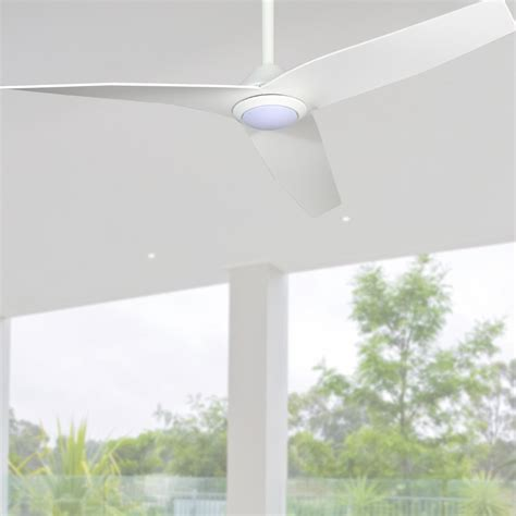 profile infinity ceiling fan  led light white