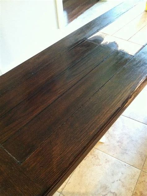 The color we're going for (Minwax Dark Walnut stain
