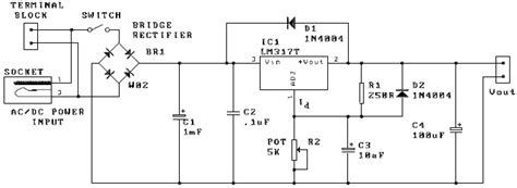 Adjustable Power Supply Electronic Project Circuit