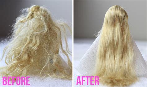 detangle doll hair tutorial