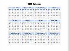 Calendar Template 2018 High Quality Loving Printable