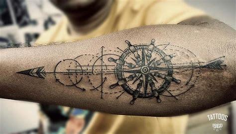 geometric compass tattoo ink  pinterest tatouage