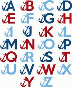 91 best nautical themed images on pinterest silhouette With nautical themed letters