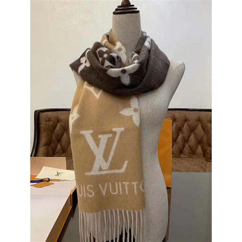 louis vuitton lv unisex reykjavik gradient cashmere scarf oversized monogram flower initial