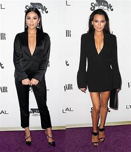 [PICS] Shay Mitchell's Plunging Black Outfit: Same As Naya ...