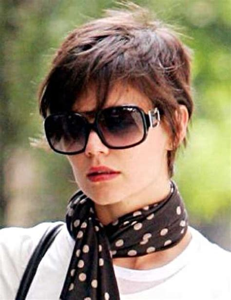Katie Holmes Pixie Cuts   Short Hairstyles 2016   2017