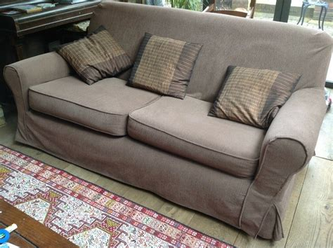 Sturdy Sofa And Armchair With Made To Measure Loose Covers