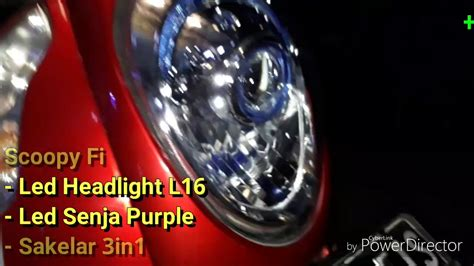 Lu Stop Led Scoopy Fi scoopy fi upgrade lu led headlight stingray l16