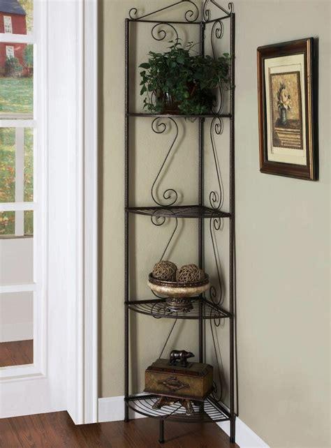 metal corner storage rack stand holder organizer shelf
