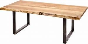 Table Bois Massif Brut : accueil les ateliers bois de fer ~ Teatrodelosmanantiales.com Idées de Décoration