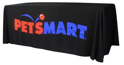 Table Drape With Logo - 8ft tradeshow table cover with free shipping logo