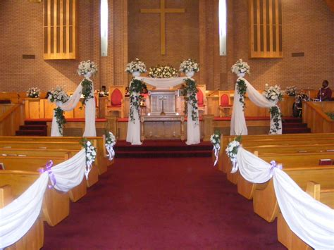 Easy And Simple Wedding Decor Church Wedding