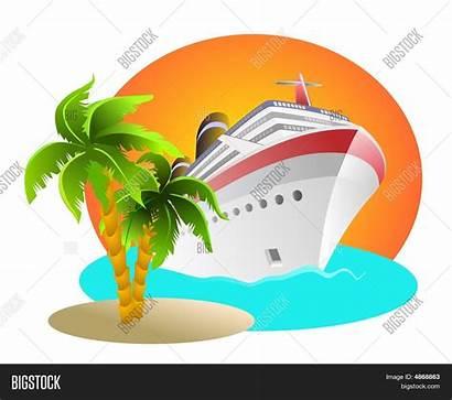 Cruise Clipart Island Bigstockphoto
