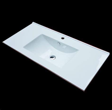 small rectangular drop in bathroom sinks a drop in bathroom sink that ahs a rectangular form