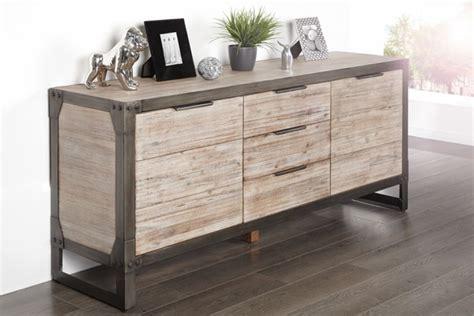 sideboard industrial design design sideboard industrial 180cm akazie teakgrau gek 228 lkt