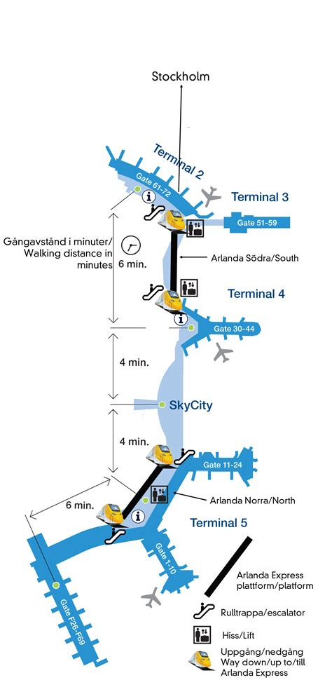 map  arlanda airport   terminals arlanda express