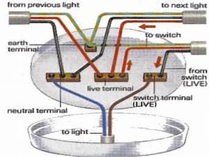 Round bathroom light electrical wiring ceiling fan