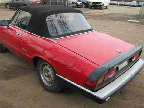 Buy Used Alfa Romeo Spider Graduate 1997 Red Salvage Frame