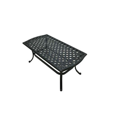 black metal patio coffee table hton bay belcourt metal rectangle outdoor coffee table