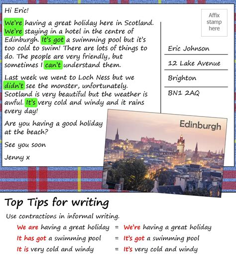 postcard format upsr 2017 a postcard from scotland learnenglish