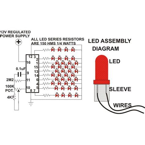 How Build Simple Circuit For Led Christmas Tree